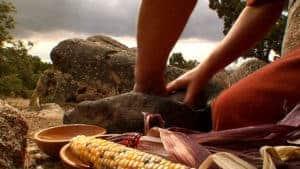 057-Spanish_Trail_Grinding_Corn_Photo