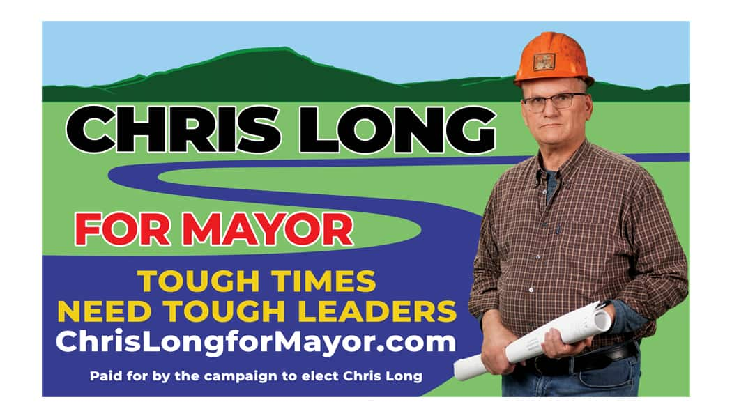 Chris Long Campaign Business Card BACK